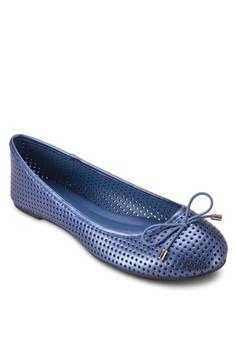 Dainty 蝴蝶結幾代沖孔平底鞋