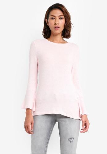 Dorothy Perkins 粉紅色 Petite Pink Flute Sleeve Top 24928AADF2E50CGS_1