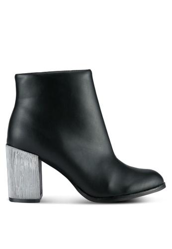 ZALORA 黑色 Chelsea Boots Metallic Heels 0E01DZZ15DF67BGS_1