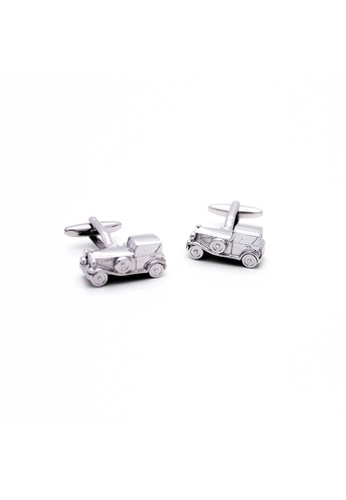 Red Stag And Hind silver Red Stag And Hind Retro Saloon Car Cufflinks 2BB2FAC426367AGS_1