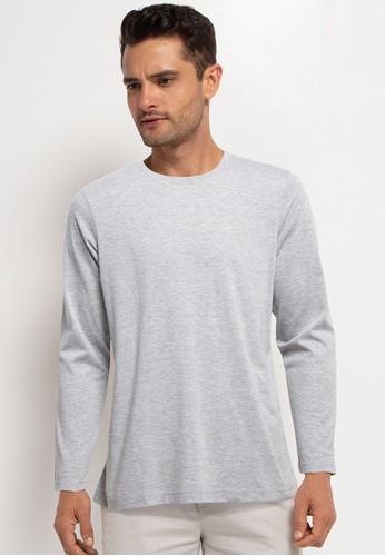 Tolliver grey Basic Long Sleeve Tee 00B29AAB1ADA57GS_1