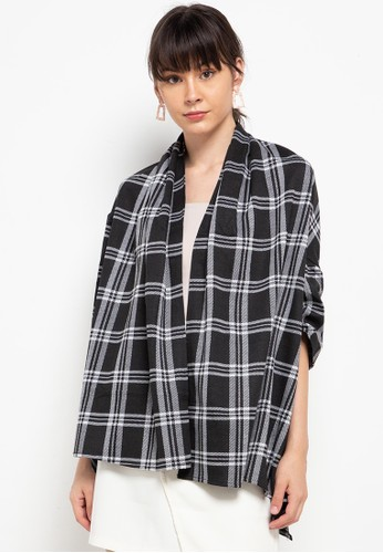 Chic Simple black Plaid Outer B2D52AAFB4E37EGS_1