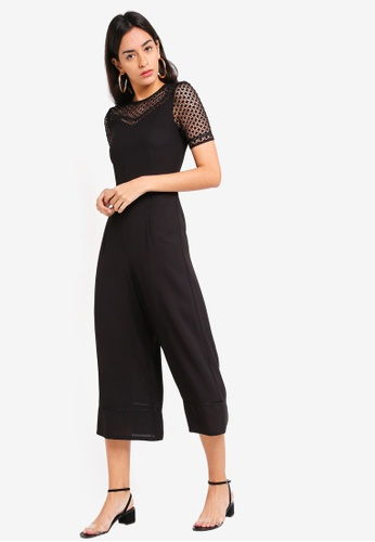 1516f2d744f Shop ZALORA Lace Panel Jumpsuit Online on ZALORA Philippines