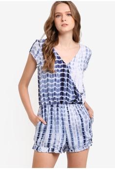 【ZALORA】 印花短袖洋裝
