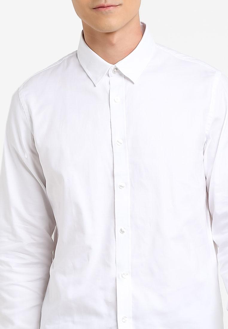 CR7 Casual Shirt Spec White Tailored Progressive 3 Rigid wPqYxU6v