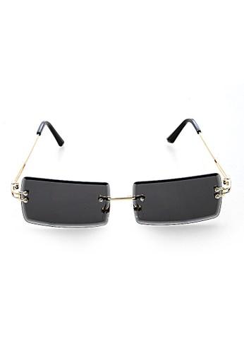 Hamlin grey Mackenzie Kacamata Retro Sunglasses Women UV400 Material PC ORIGINAL - Gray 34605GLD94A7D1GS_1