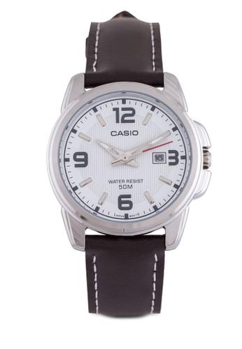 LTP-1314Lesprit 品牌-7AVD 三指針皮革錶, 錶類, 皮革錶帶