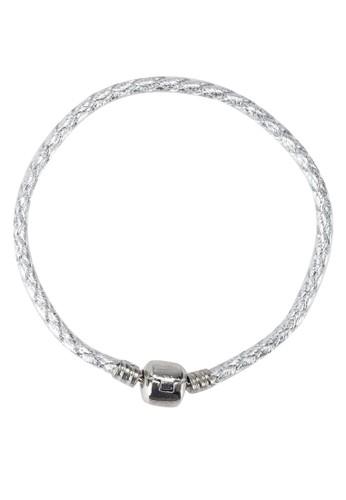 透白銀編織手鐲, 飾zalora 手錶 評價品配件, 手鐲 & 手環
