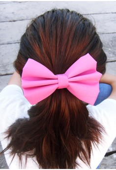 Mauvy Pink Bow (Large)
