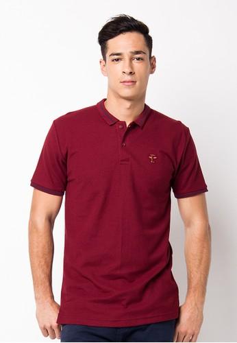Endorse Polo Shirt E St Plane Maroon END-PF088