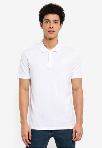 MANGO Man white Slim-Fit Cotton Polo Shirt 43D15AAED5AC08GS_1