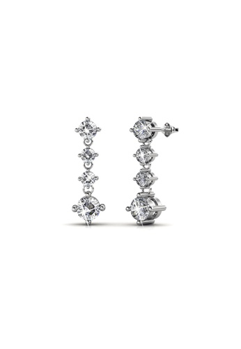 Her Jewellery silver Swarovski® Crystals - Amanda Earrings (18K White Gold Plated) Her Jewellery HE581AC96JVBMY_1