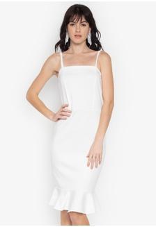 Shop ZALORA BASICS Basic Pleated Waist Dress Online on ZALORA ... 38c7ae27f