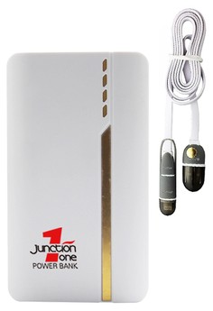 J1 13000mah Power Bank With FREE Bavin 2-in-1 USB Data Cable with Lightning