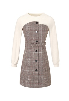 4b927b11f84 66% OFF A-IN GIRLS Ladies Two-layers Stitching Plus Velvet Dress HK$  1,745.00 NOW HK$ 598.00 Sizes S M L XL