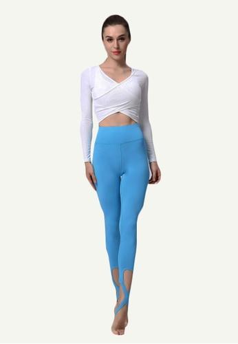 B-Code blue ZYG5028B-Lady Quick Drying Running Fitness Yoga Sports Leggings-Blue 8470FAA5332D6CGS_1