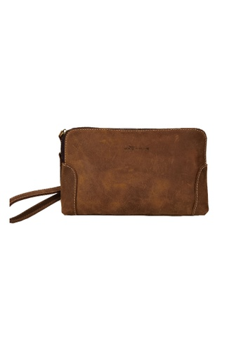 EXTREME brown Extreme Leather Clutch Bag BC845AC07785D0GS_1
