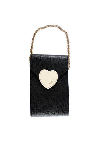 Treasure by B & D black Women PU Sling Bag Heart Lock Design TR022AC0JQ1XPH_1