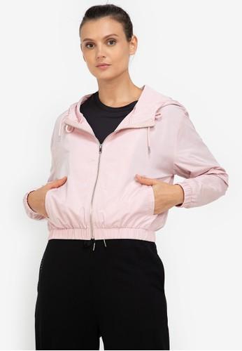ZALORA ACTIVE pink Hooded Windbreaker Jacket 5C746AA8E0DD66GS_1