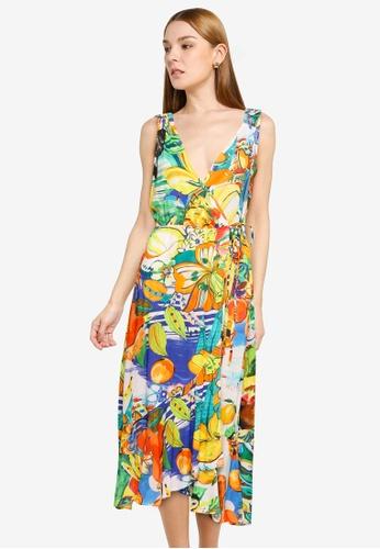Desigual multi Tropical Beach Dress C893FAA9554D42GS_1