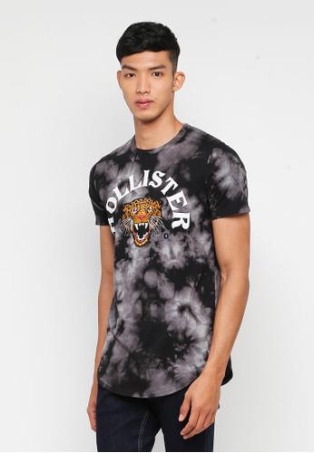 Hollister 黑色 LOGO印花T恤 ED47FAA6B6A0ACGS_1