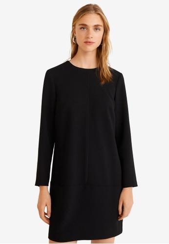 Mango black Decorative Seam Dress C32CAAAA830AFAGS_1