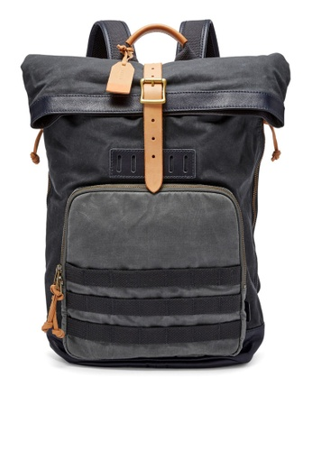 Fossil grey Fossil Defender Grey Leather Backpack MBG9308470 FO164AC0S1Q4MY_1