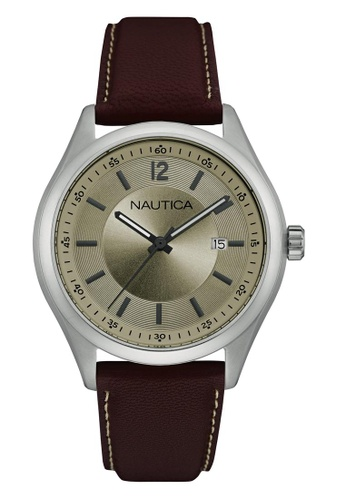 NAUTICA brown Nautica NCC03 Brown Leather Strap NA146AC26OCZSG_1