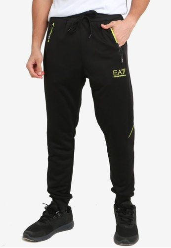 EA7 black Train Athletic Colour Block Mix Pants 52AF2AAAFD5470GS_1