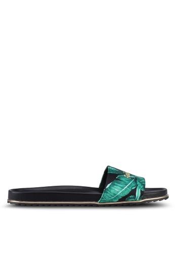 VINCCI black Slide On Sandals B6399SHAACCF8BGS_1