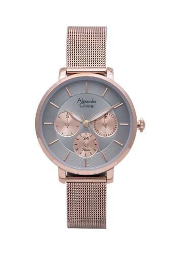 Alexandre Christie gold Alexandre Christie Jam Tangan Wanita - Rosegold Grey - Stainless Steel - 2870 BFBRGGR C9862ACF986BE1GS_1