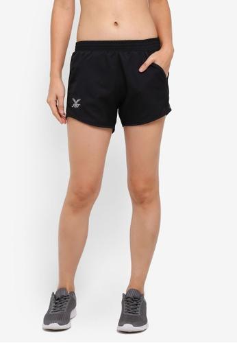 FBT black and grey Training Shorts with Side Pockets B6F54AA45E0A2EGS_1