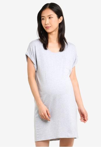 Cotton On Body grey Sleep Recovery Maternity Nightie C2801AACDBD805GS_1