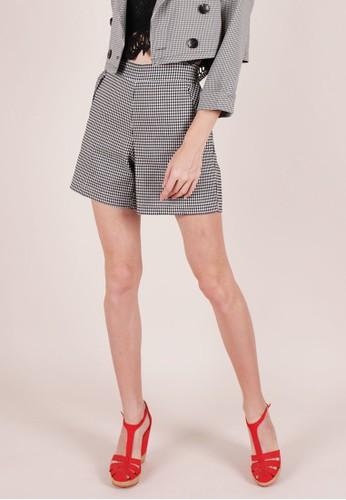 MAGNOLIA black Checkered Shortpants D19AEAABB4C32BGS_1