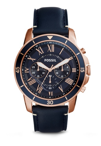 Fossil blue Fossil Grant Sport Blue Leather Watch FS5237 FO164AC41IRQMY_1