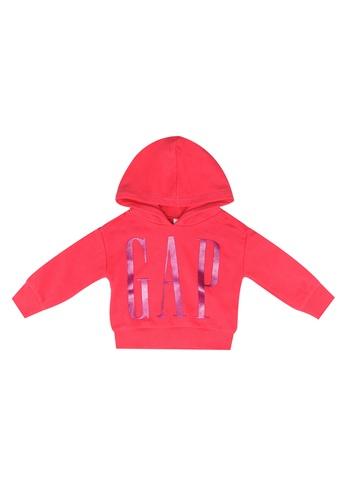 GAP pink Logo Pop Hoodie E332AKAFB6A436GS_1