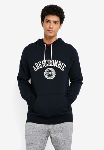Abercrombie & Fitch navy Logo Pop Pullover 2616AAAF0E9F19GS_1