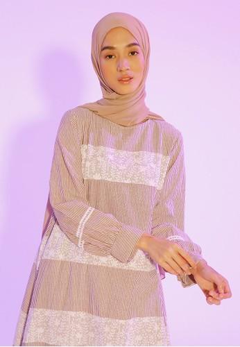 HijabChic Abella Stripe Burgundy 0A494AA2F94705GS_1