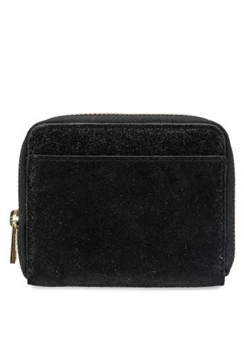 Pieces black Pcgun Suede Wallet A47F6AC7D5BD6BGS_1