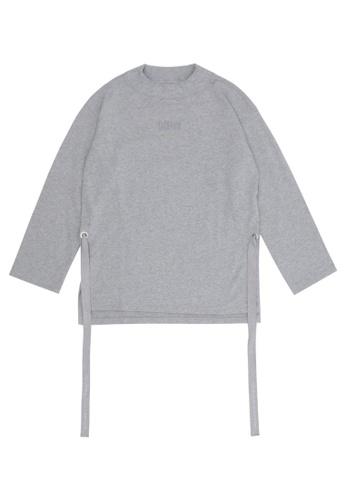 MUSIUM DIV grey Embellished T-shirt 56246AA63721B9GS_1