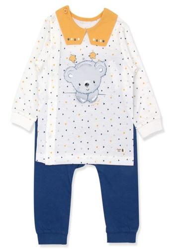 Organic mom white and orange and blue Organic Cotton Koala Lightweight Long Sleeves Pjs 18079KADB2F84AGS_1