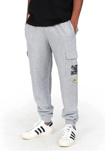 Reoparudo 灰色 RPD 迷彩品牌印花休閒長褲(灰色) FC55BAAED49F87GS_1