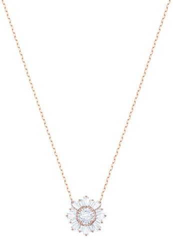 SWAROVSKI gold Sunshine Medium Pendant Necklace B8F12ACFC4C69CGS_1