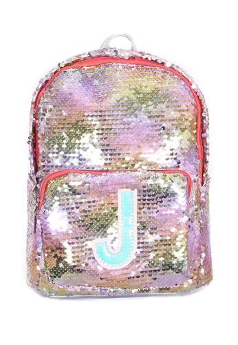 Adkidz multi ADKIDZ Reversible Sequin Backpack with Initial J 0E93DKC2D3FC6AGS_1
