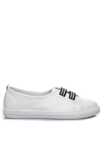 Twenty Eight Shoes Trend Elastic Band Leather Sneakers RX5188 4A981SH394685FGS_1