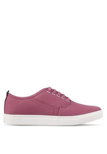 JAXON red Canvas Casual Sneakers 3F3FESHA2ED1EBGS_1