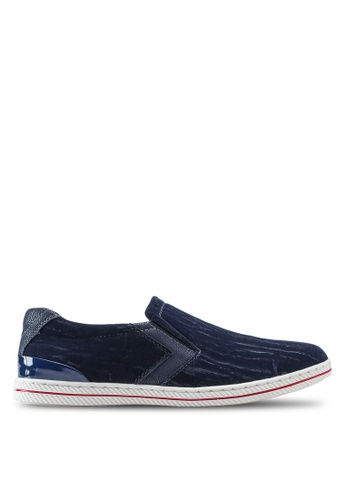 Louis Cuppers blue Basic Canvas Slip Ons LO977SH81ZJQMY_1