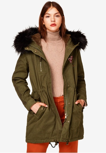 ESPRIT green Woven Regular Coat 0AA93AA6252869GS_1