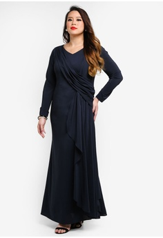 2516000c62 50% OFF Love By Syomir Sonia Long Dress With Drape RM 599.00 NOW RM 299.90  Sizes XXL XXXL XXXXL XXXXXL