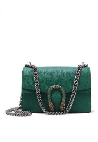 Twenty Eight Shoes green VANSA Fashionable Lock Chain Crossbody Bag VBW-Cb80328 6E93DACBEECB1BGS_1